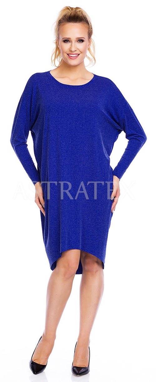 Tunikové šaty s netopýřími rukávy