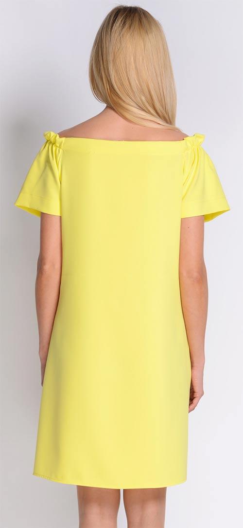 Volné žluté letní šaty