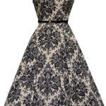 Retro šaty Hepburn - Ornament