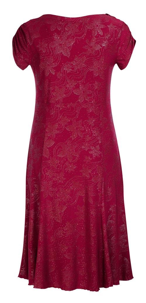 Vínové maxi společenské šaty