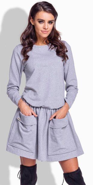 Volnočasové šaty z teplákoviny