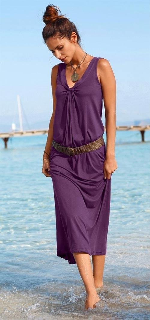 Dlouhé letní šaty z lehkého pohodlného materiálu
