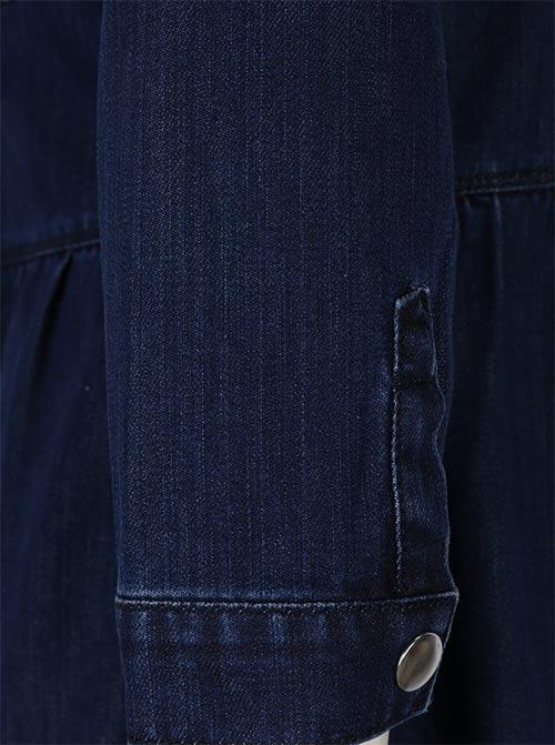 Džínové šaty s dlouhým rukávem