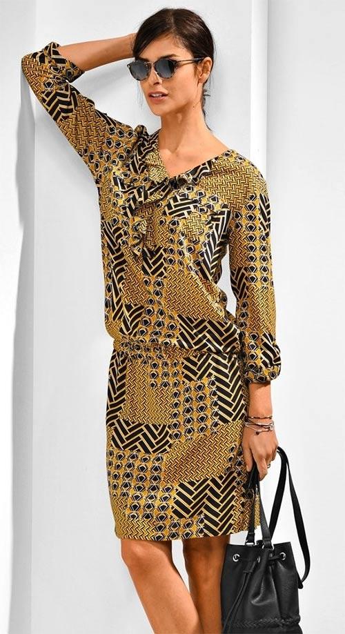 Hnědé dámské šaty velkých velikostí
