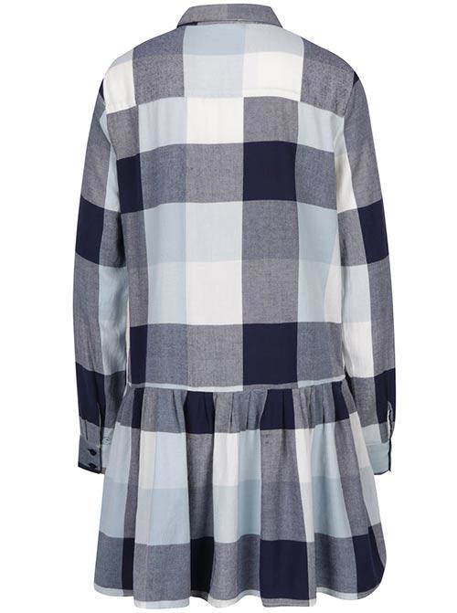Karované dámské šaty košilového střihu
