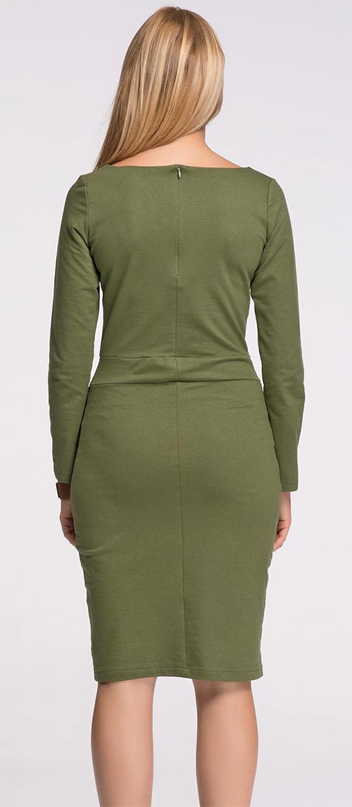Khaki dámské šaty