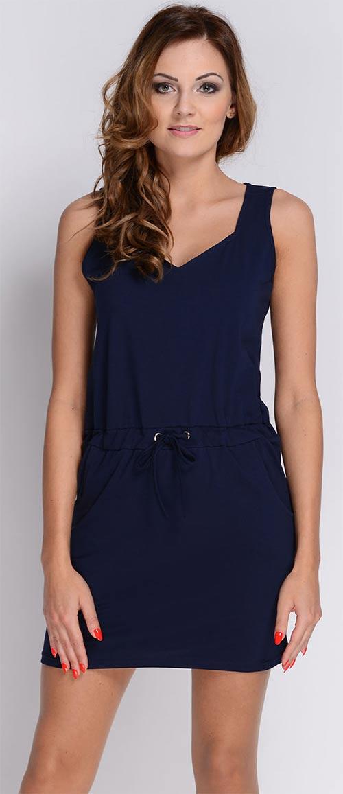 Modré šaty do práce