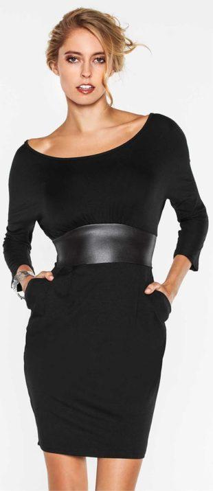 Nádherné černé šaty casual vzhledu