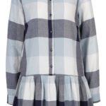 Podzimní volné kostkované košilové šaty