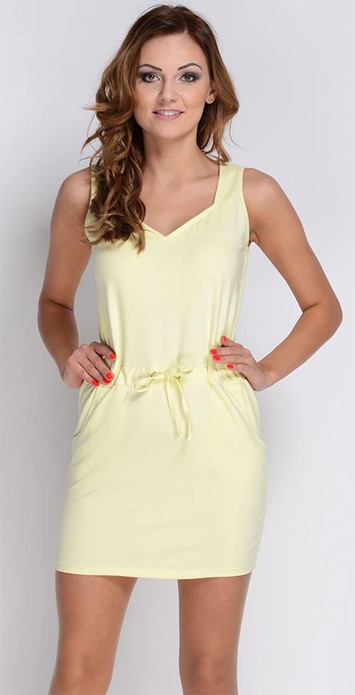 Pružné bavlněné šaty ideální na letní dny