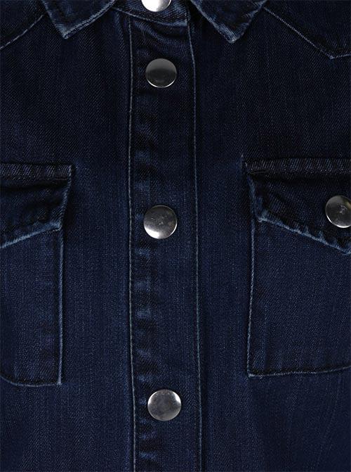 Riflové šaty s patentkami