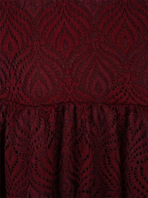 Šaty z červené krajky