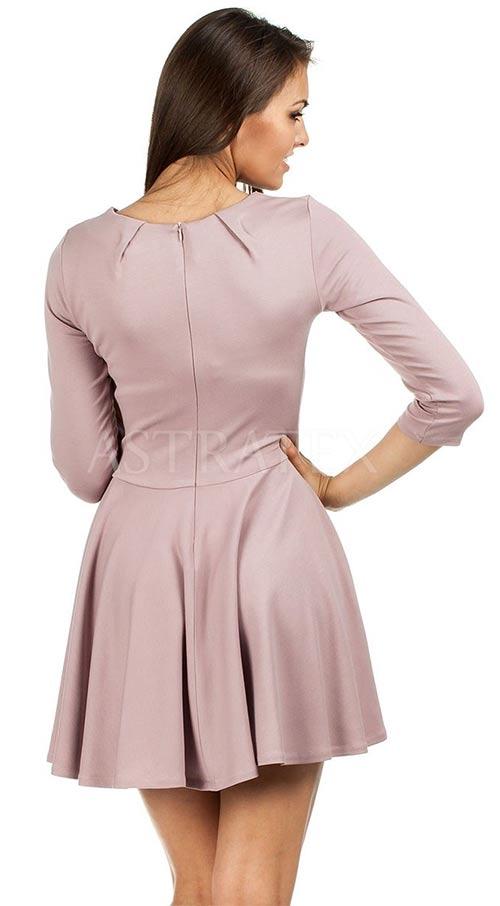 Společenské šaty se skládanou sukní