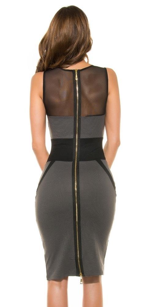 Celorozepínací šaty na zip