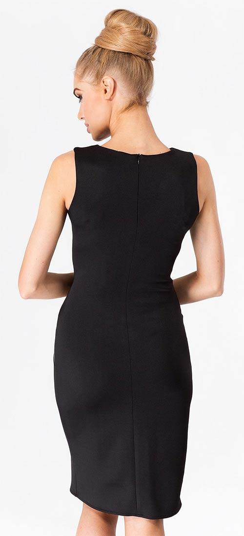 Černé dámské šaty bez rukávů