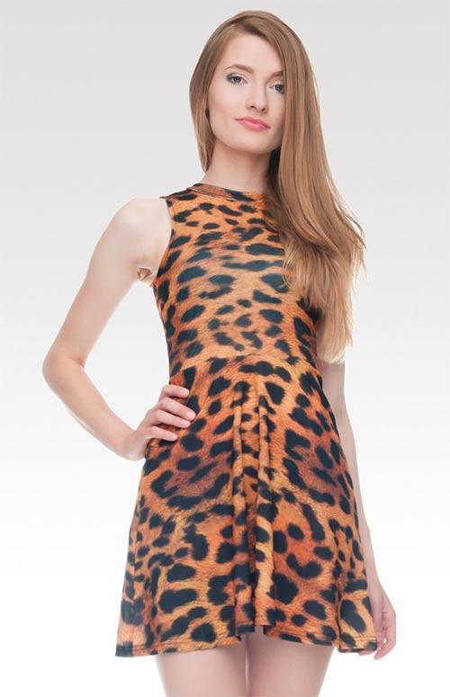 Dámské leopardí šaty