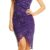 Fialové krajkové plesové šaty