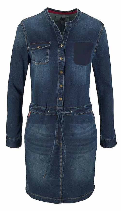 Moderní šaty denim
