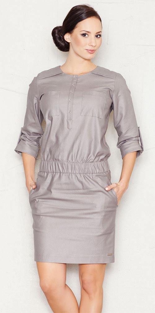 Moderní šaty s kapsami