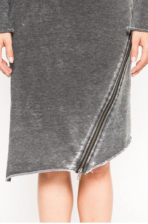 Šaty s rozparkem na zip
