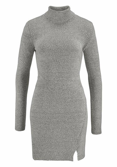 Šedé zimní šaty