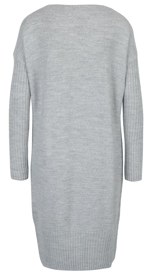 Teplé zimní šedé šaty