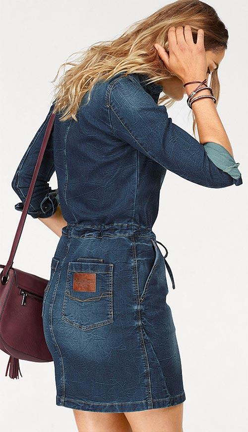 Značkové jeansové šaty
