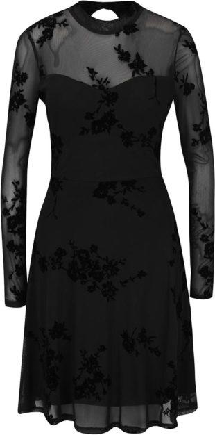 Černé květované šaty ONLY Nadi