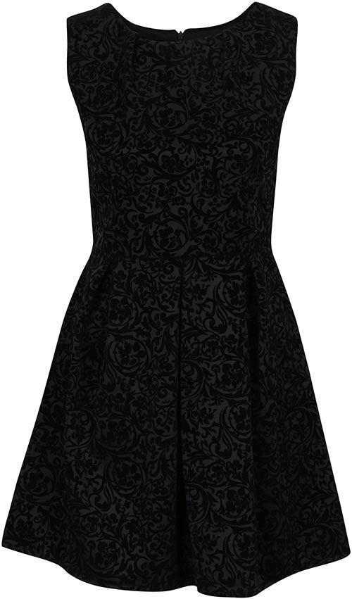 Černé plesové XXL šaty
