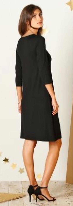 Černé volné šaty větších velikostí