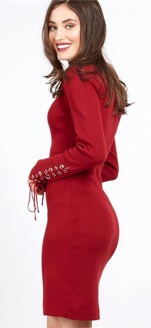 Červené zimní šaty