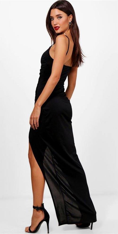 Dlouhé šaty s vysokým rozparkem