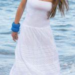 Italské letní šaty s bohatou květinovou výšivkou