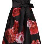 Květované šaty s mašlí a širokou sukní