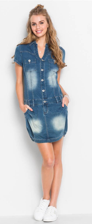 Moderní džínové šaty pro mladé