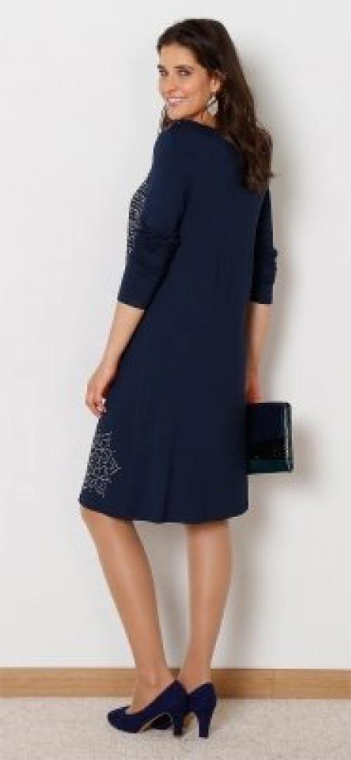 Modré šaty pro baculky