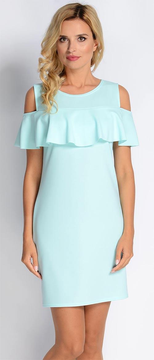 Něžné světle modré šaty