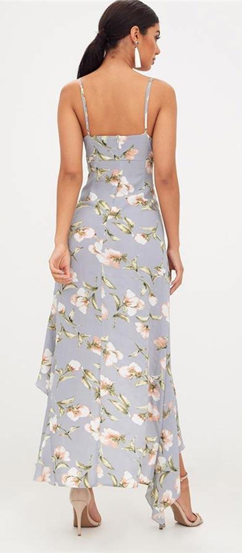 Plesové šaty s květinovým potiskem