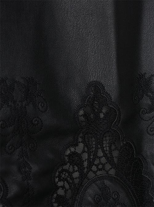Sexy kombinace koženky a krajky