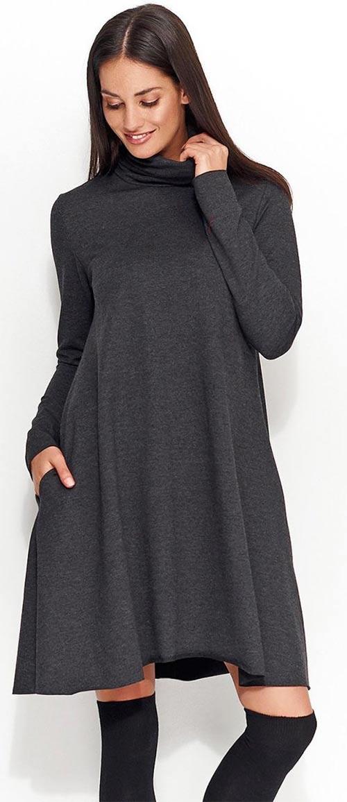 Volné podzimní šaty