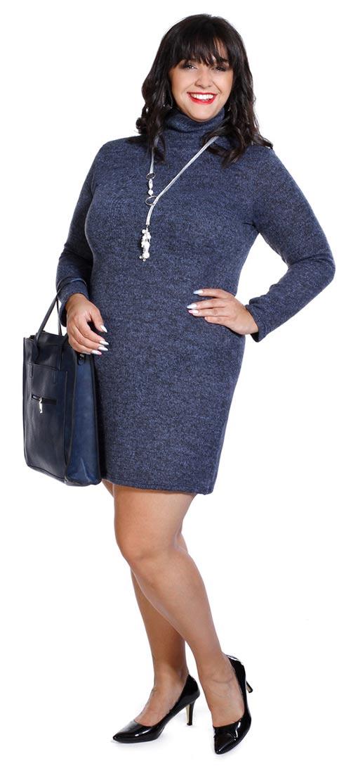 Zimní dámské šaty nadměrných velikostí