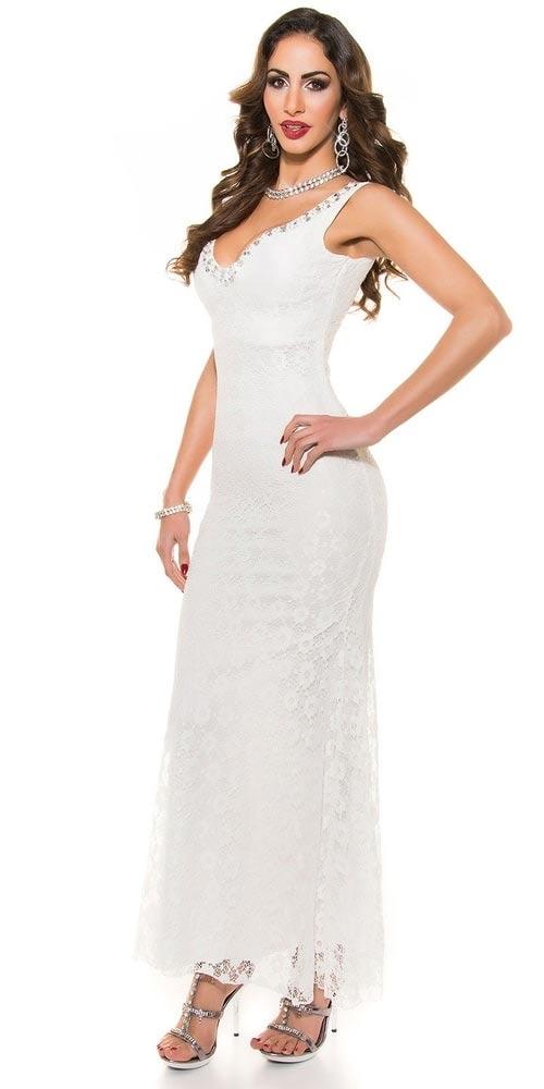 Bílé plesové šaty