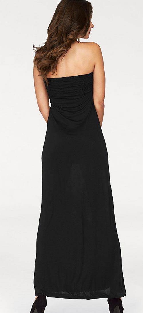 Částečně průsvitné černé šaty
