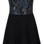 Černé šaty s krajkovým topem