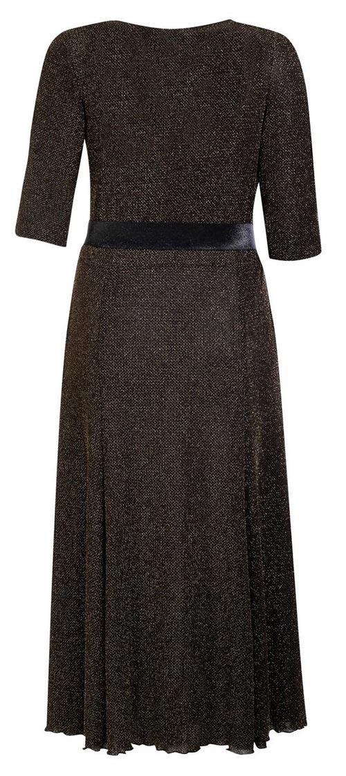 Dlouhé zlaté dámské šaty