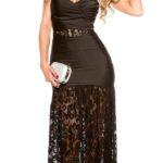 Krásné dámské večerní šaty z lesklého materiálu