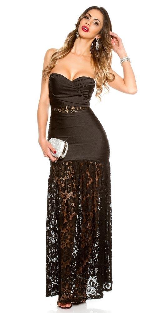 c5d7f5ab31e7 Krásné dámské večerní šaty z lesklého materiálu