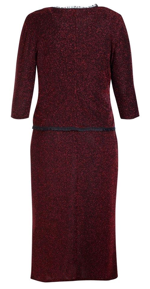Lesklé vínové šaty