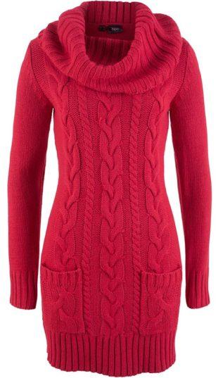 Pletené svetrové dámské šaty
