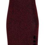 Pouzdrové lesklé šaty nadměrných velikostí